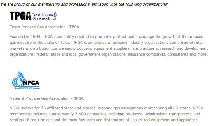 Terry Garnett's Propane Professional Affiliations